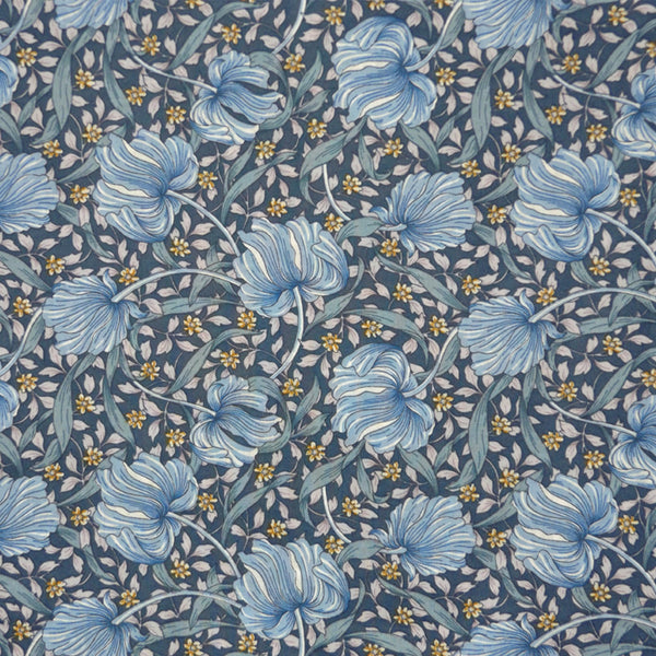 BLUE FLORAL LAWN COTTON HANDKERCHIEF