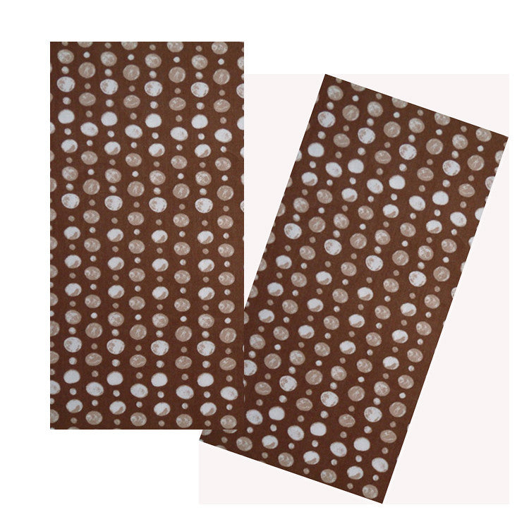 BROWN DOUBLE DOTS ORGANIC COTTON NAPKIN SET
