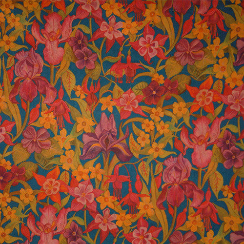 MULTICOLORED FLORAL 'BRIGHTLEY' LIBERTY LAWN COTTON POCKET SQUARE HANDKERCHIEF