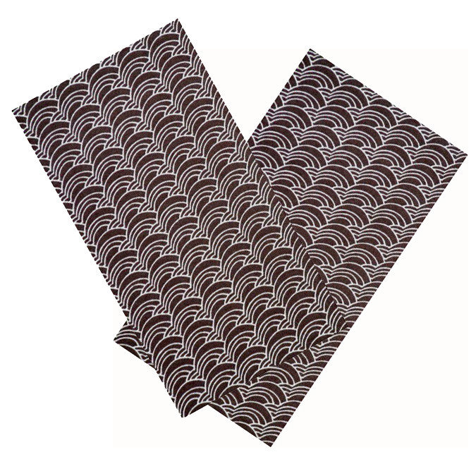 BROWN & WHITE WAVES ORGANIC COTTON NAPKIN SET