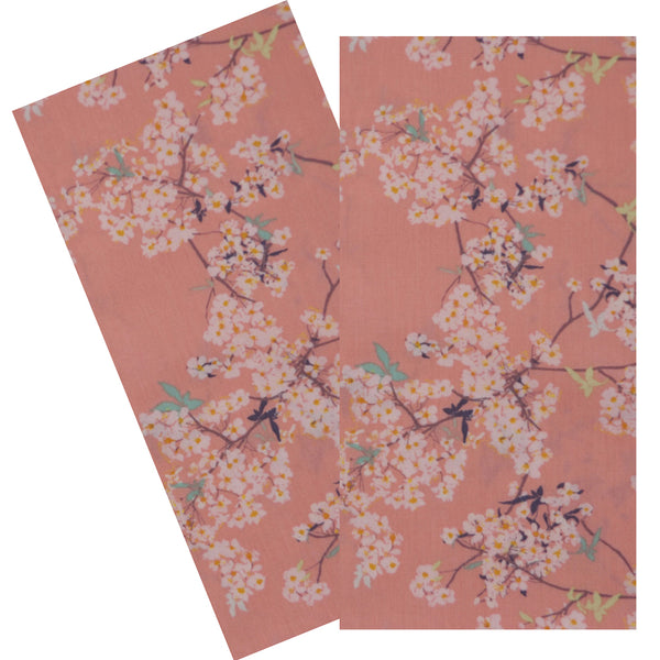 PINK CHERRY BLOSSOMS NAPKIN SET