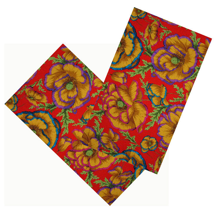 CHERRY RED FLORAL NAPKIN SET