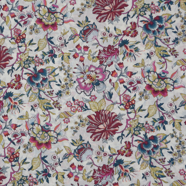 MULTI COLORED FLORAL 'CHRISTELLE' LIBERTY LAWN COTTON HANDKERCHIEF
