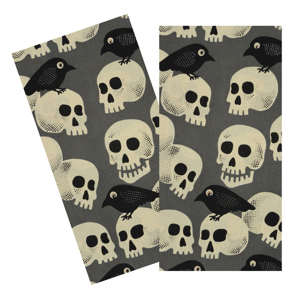 CROWS & SKULLS NAPKIN SET
