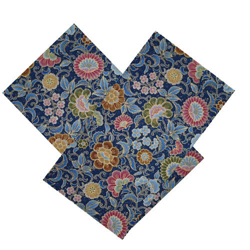DENIM FLORAL NAPKIN SET
