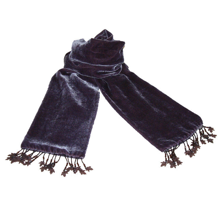 DUSTY PLUM VELVET SCARF