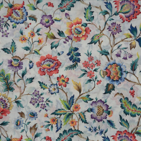 MULTICOLOR FLORAL 'EVA BELLE' LIBERTY LAWN COTTON HANDKERCHIEF