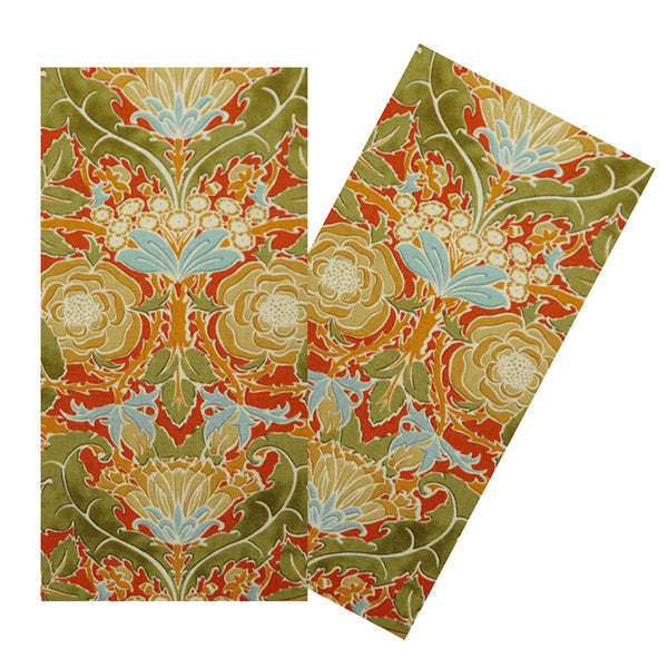 GOLDEN FLORAL NAPKIN SET