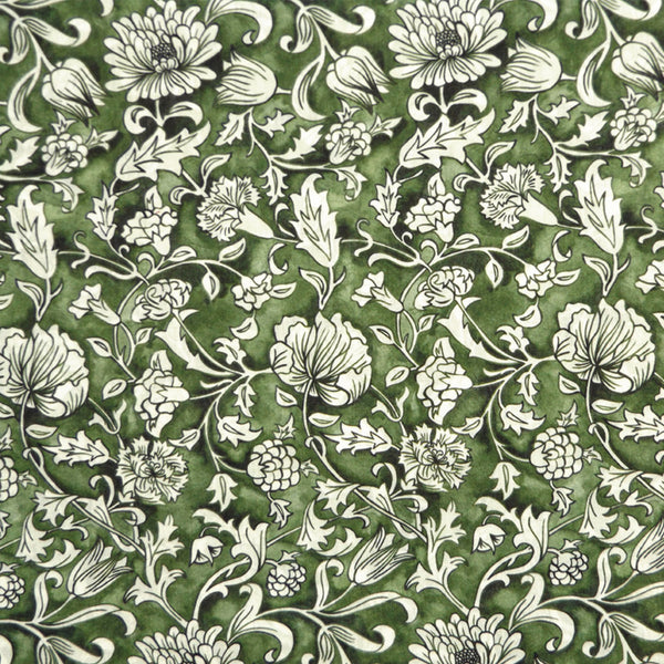 GREEN FLORAL 'MAY MANOR' LIBERTY LAWN COTTON MASK