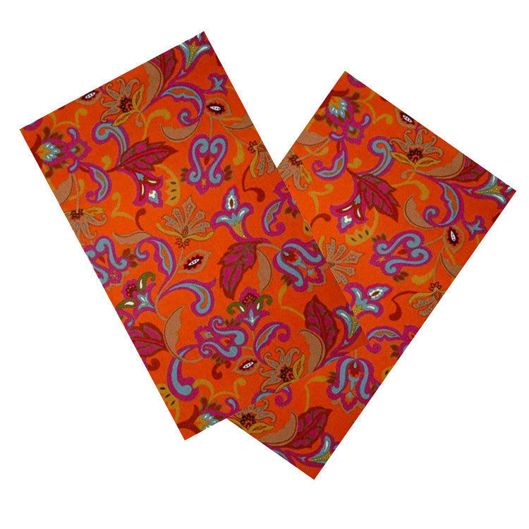 ORANGE & FUCHSIA PAISLEY NAPKIN SET