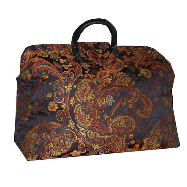 PAISLEY FLOURISH SATEEN TAPESTRY CARPET BAG