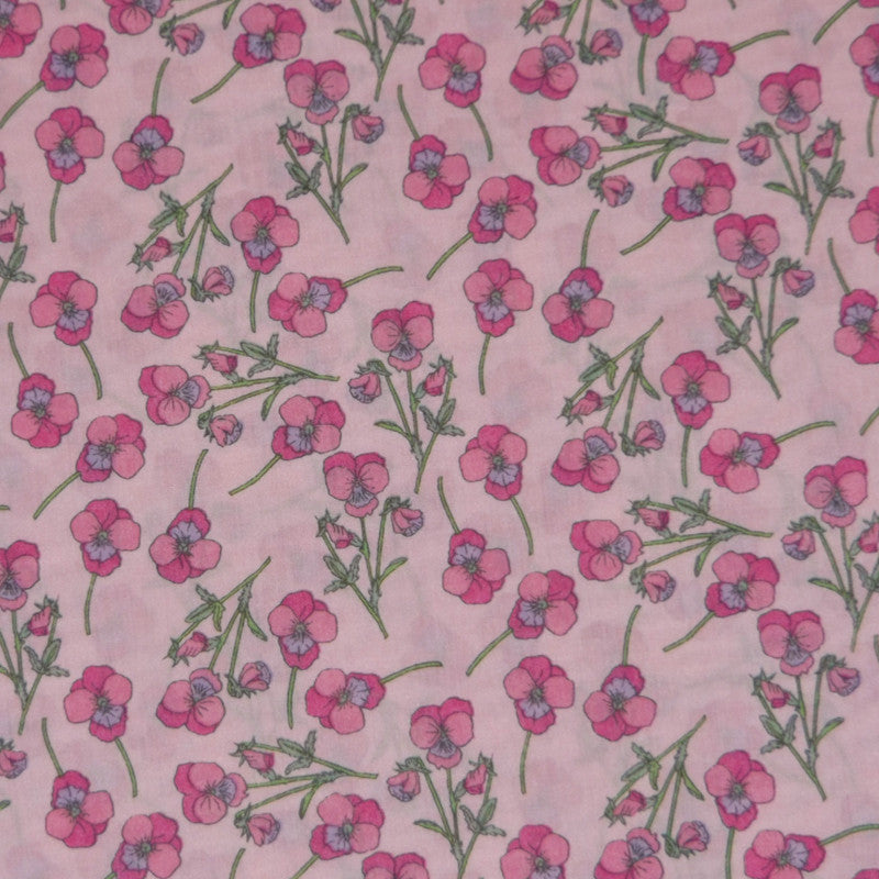 PINK ON PINK 'ROS' LIBERTY LAWN COTTON HANDKERCHIEF