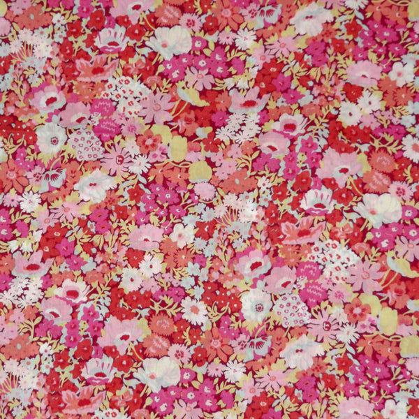 PINK FLORAL 'THORPE' LIBERTY LAWN COTTON POCKET SQUARE HANDKERCHIEF