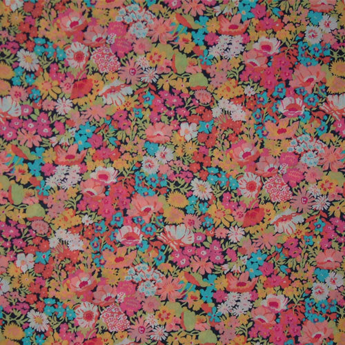 BRIGHT PINK & TURQUOISE FLORAL 'THORPE'  LIBERTY LAWN COTTON  HANDKERCHIEF