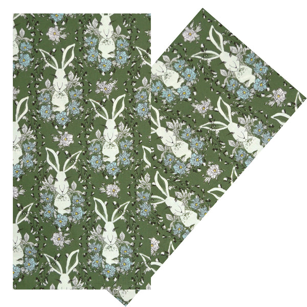 SAGE RABBITS NAPKIN SET