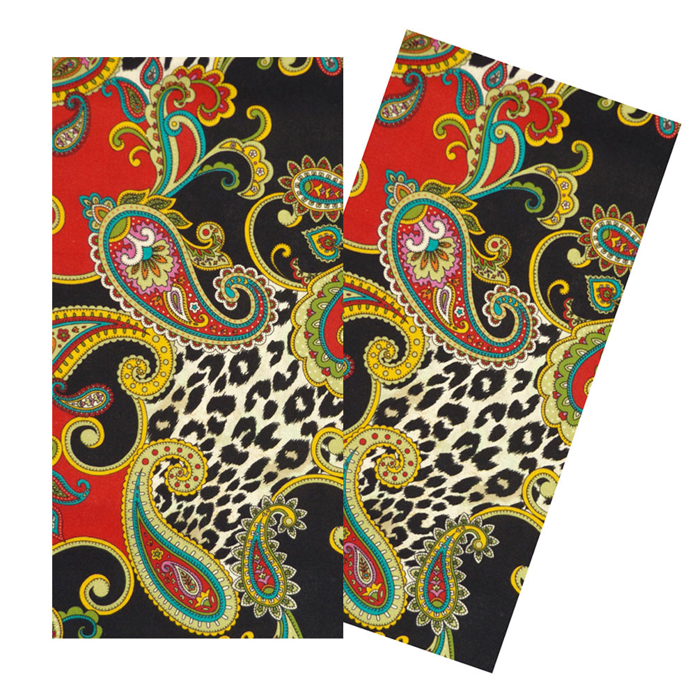 RED LEOPARD PAISLEY NAPKIN SET