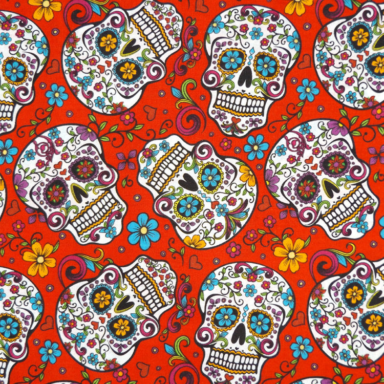 RED SUGAR SKULLS NAPKIN SET