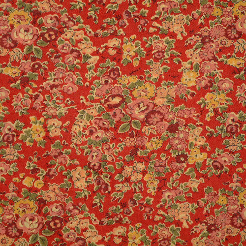 RED FLORAL 'TATUM' LIBERTY LAWN COTTON POCKET SQUARE HANDKERCHIEF
