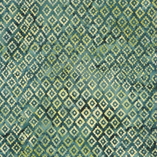 TEAL DIAMONDS BATIK HANDKERCHIEF