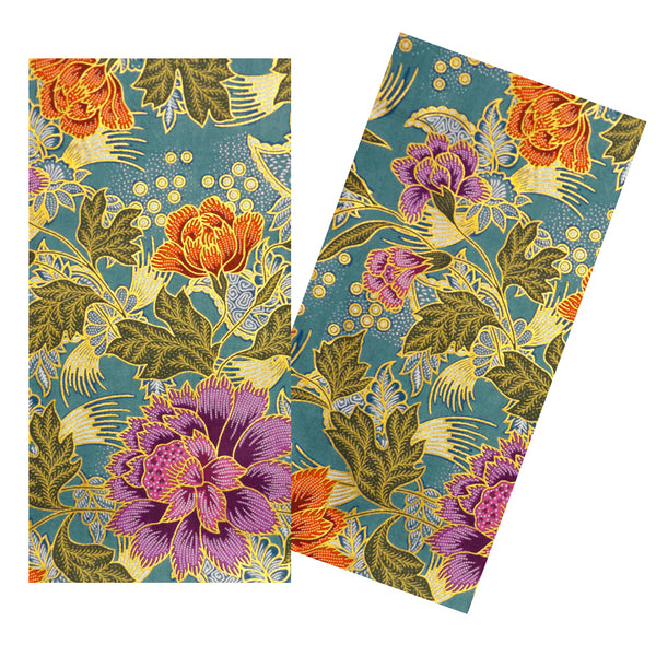MULTICOLORED FLORAL BATIK NAPKIN SET