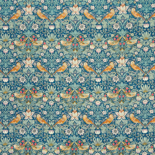 TEAL & MINT 'STRAWBERRY THIEF' LIBERTY LAWN COTTON HANDKERCHIEF