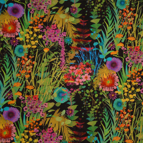 BRIGHT MULTICOLOR FLORAL 'TRESCO' LIBERTY LAWN COTTON HANDKERCHIEF