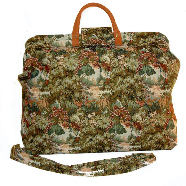 WOODLAND FLORAL TAPESTRY CARPET BAG