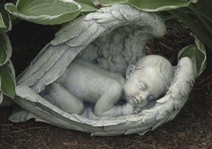 Miscarried baby in angel wings