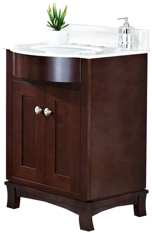 "American Imaginations Birch Wood-Veneer 19.5"" Vanity Set In Coffee AI-1074"