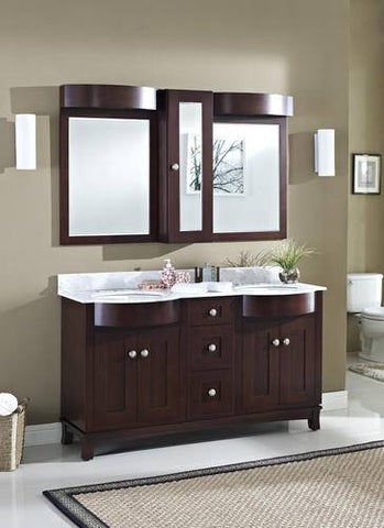 "American Imaginations 60"" Double Bathroom Vanity AI-1105"