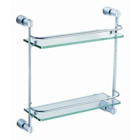 Fresca Magnifico 2 Tier Glass Shelf - Chrome
