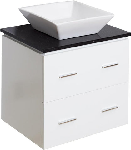 "American Imaginations Plywood-Veneer 24"" Vanity Set In White AI-734"