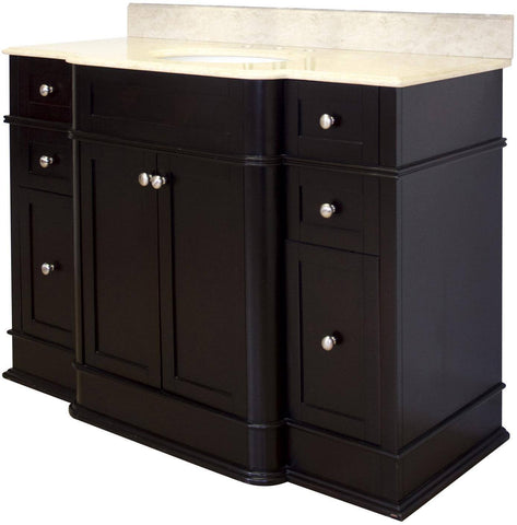 "American Imaginations Birch Wood-Veneer 50"" Vanity Set In Dark Mahogany AI-940"