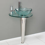 "Fresca Netto 24"" Modern Glass Bathroom Pedestal"