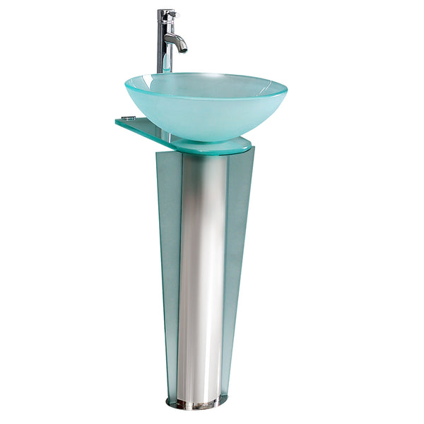 "Fresca Vitale 17"" Modern Glass Bathroom Pedestal"