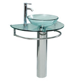 "Fresca Attrazione 30"" Modern Glass Bathroom Pedestal"