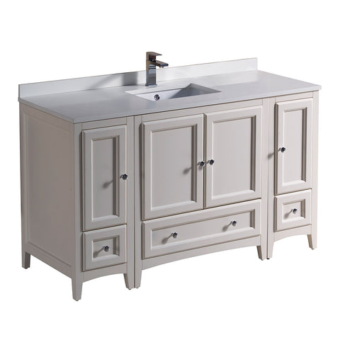 "Fresca Oxford 54"" Traditional Bathroom Cabinets w/ Top & Sink"
