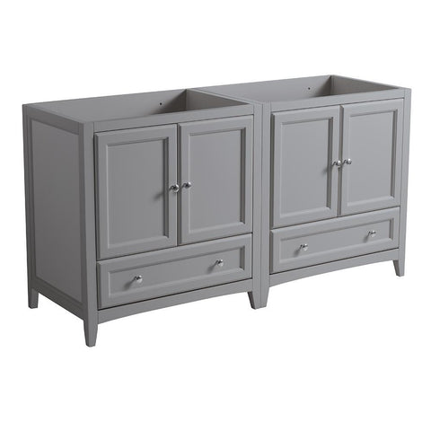 "Fresca Oxford 59"" Gray Traditional Double Sink Bathroom Cabinets"