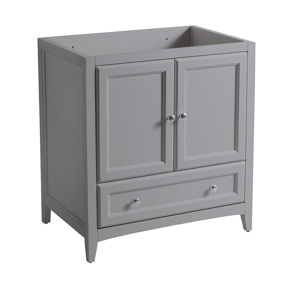 "Fresca Oxford 30"" Gray Traditional Bathroom Cabinet"