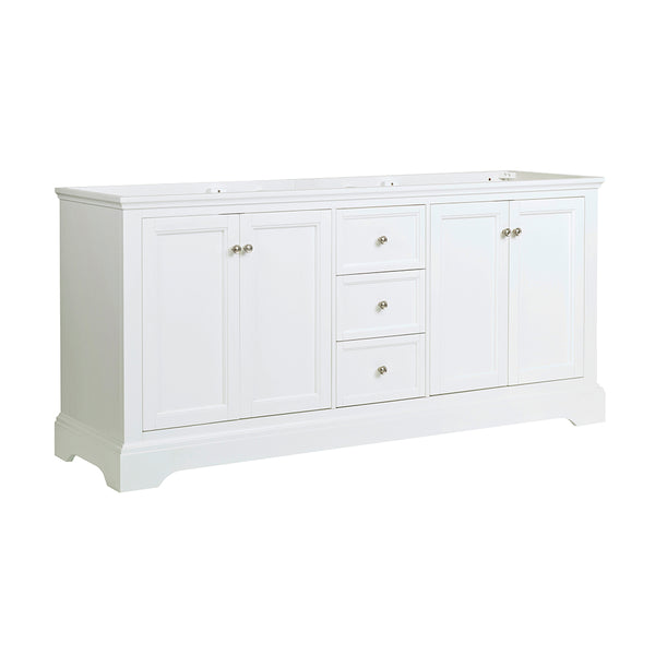 "Fresca Windsor 72"" Matte White Traditional Double Sink Bathroom Cabinet 