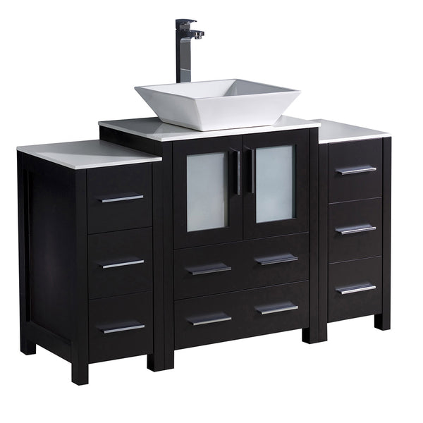 "Fresca Torino 48"" Modern Bathroom Cabinets w/ Top & Vessel Sink"