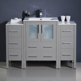"Fresca Torino 48"" Modern Bathroom Cabinets w/ Integrated Sink"