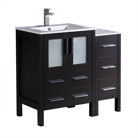 "Fresca Torino 36"" Modern Bathroom Cabinets w/ Integrated Sink"
