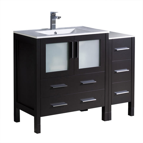 "Fresca Torino 42"" Modern Bathroom Cabinets w/ Integrated Sink"