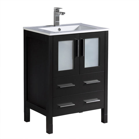 "Fresca Torino 24"" Modern Bathroom Cabinet w/ Integrated Sink"