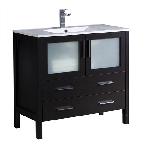"Fresca Torino 36"" Modern Bathroom Cabinet w/ Integrated Sink"