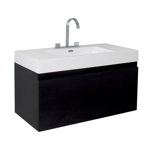 "Fresca Mezzo 39"" Modern Bathroom Cabinet w/ Integrated Sink"