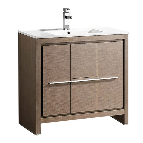 "Fresca Allier 36"" Modern Bathroom Cabinet w/ Sink"