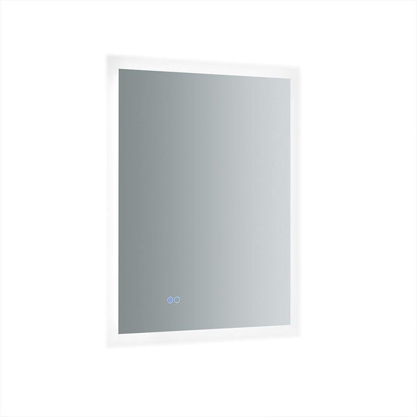 "Fresca Angelo 24"" Wide x 30"" Tall Bathroom Mirror w/ Halo Style LED Lighting and Defogger"