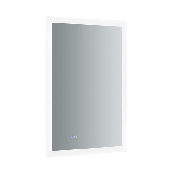 "Fresca Angelo 24"" Wide x 36"" Tall Bathroom Mirror w/ Halo Style LED Lighting and Defogger"